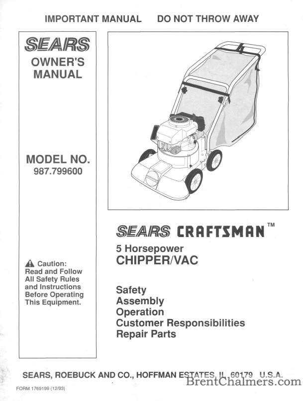 Sears Craftsman Wood Chipper : Craftsman wood chipper blades new purse and
